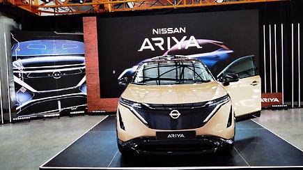 """Išskirtinis elektrinio prototipo """"Nissan Ariya"""" pristatymas Vilniuje, Dūmų fabrike"""