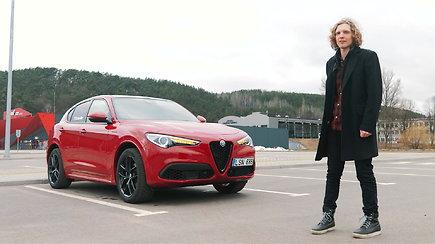 """Dominykas Butvilas vairuoja """"Alfa Romeo Stelvio"""""""