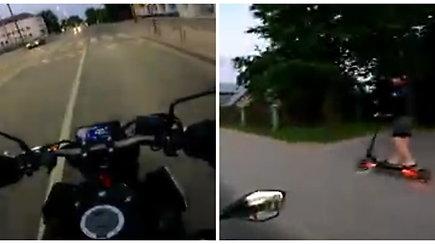 Pavojingas paspirtuko vairuotojo elgesys