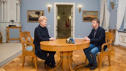 """""""Apie ką negalima kalbėti"""" su prezidente Dalia Grybauskaite"""