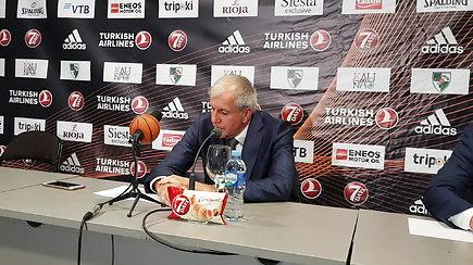 Ž,Obradovičius po rungtynių kvies Šarūną Jasikevičių vakarienės