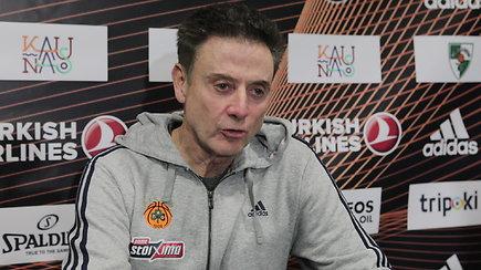 """""""Panathinaikos"""" treneris Rickas Pitino: """"Jei turėčiau 13 tokių žaidėjų kaip Lukas Lekavičius būčiau labai laimingas"""""""