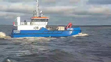 """Naujas Uosto direkcijos laivas """"Naras"""" – jau Klaipėdoje"""