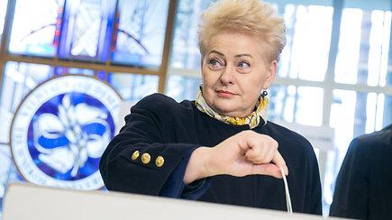 Rinkimuose balsavusi D.Grybauskaitė apie S.Skvernelį: reikia didelių gebėjimų daryti tokią tarptautinę gėdą