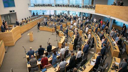 Komentarai prieš Seimo posėdį