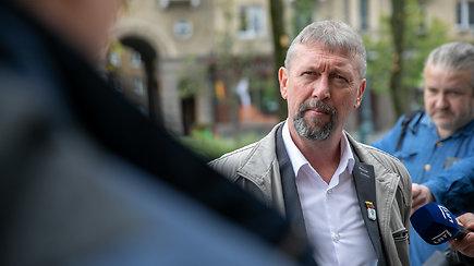 """Prie policijos raginimų skirstytis prisijungė ir R.Grinevičius: """"Susirinksime dar ne kartą"""""""