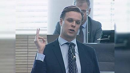 Gabrielius Landsbergis Seimo posėdyje Saulių Skvernelį pavadino bailiu