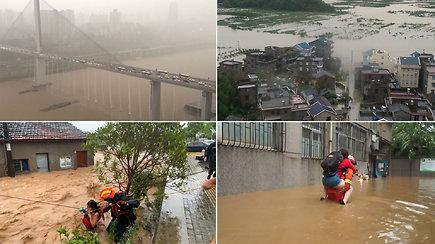Kinijoje potvyniai per du mėnesius pasiglemžė daugiau kaip du šimtus gyvybių