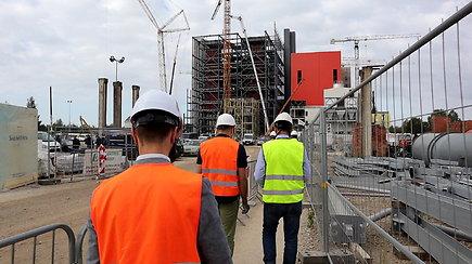 Pamatykite kaip atrodo statoma Vilniaus kogeneracinė jėgainė