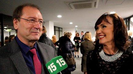 Buvę sutuoktiniai Viktoras Uspaskichas ir Jolanta Blažytė į mados renginį atvyko kartu