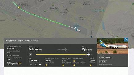 """Irane netrukus po pakilimo sudužo Ukrainos keleivinis lėktuvas """"Boeing 737"""""""