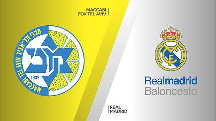 """Eurolygos rungtynių apžvalga: Tel Avivo """"Maccabi"""" ir Madrido """"Real"""""""