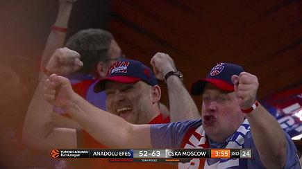 Pamatykite: dramatiškame Eurolygos finale triumfavo Maskvos CSKA