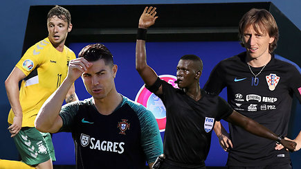 """""""Vieni vartai"""": maldos ir dramos Euro 2020 atrankoje, cirkas VAR kabinete"""