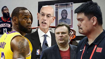 """""""Ginčas"""" ir žinutė sukėlusi neregėtą konfliktą tarp Kinijos ir NBA"""