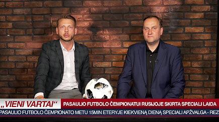 """""""Vieni Vartai"""" - pasaulio futbolo čempionato laidos anonsas"""