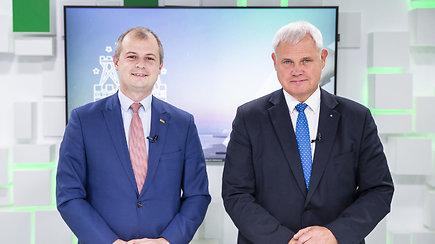 15min studijoje – į Klaipėdos merus pretenduojantys V.Grubliauskas ir S.Gentvilas