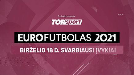 """""""Eurofutbolas 2021"""": birželio 18 d. svarbiausi įvykiai"""