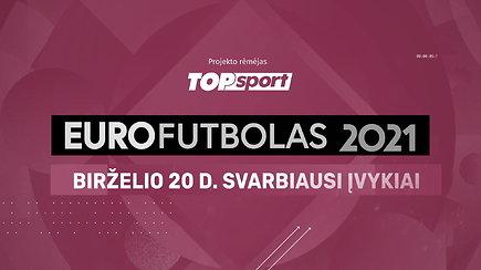 """""""Eurofutbolas 2021"""": birželio 20 d. svarbiausi įvykiai"""