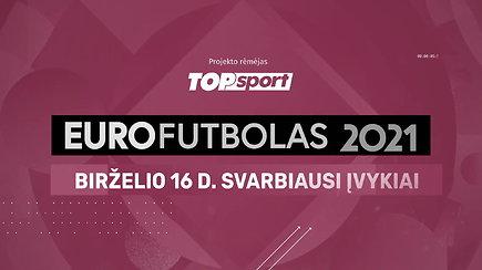 """""""Eurofutbolas 2021"""": birželio 16 d. svarbiausi įvykiai"""