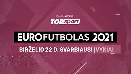 """""""Eurofutbolas 2021"""": birželio 22 d. svarbiausi įvykiai"""