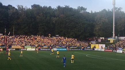 Ukrainos sirgalių palaikymas LFF stadione