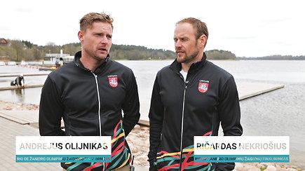 """R.Nekriošius ir A.Olijnikas: """"Esame pasiruošę kovoti dėl olimpinio kelialapio"""""""