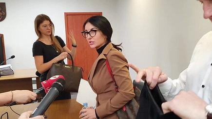 M.L.Basovė po teismo posėdžio vengė žurnalistų klausimų ir skubėjo palikti salę