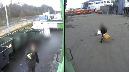 """""""Ekonovus"""" parodė, ką veikė jų darbuotojai prieš išveždami šiukšlių maišus į mišką"""