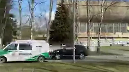 "Nufilmuotos ""Porsche Cayenne"" gaudynės Vilniaus centre"