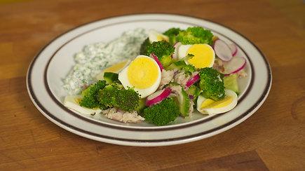 Gaivios pavasariškos brokolių salotos