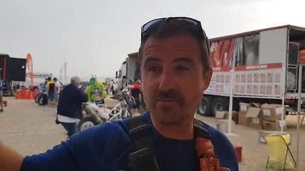 Organizatoriaus komentaras dėl B.Bardausko motociklo remonto