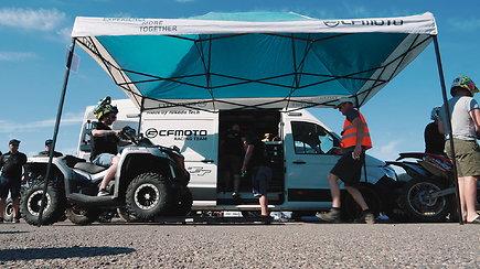 """""""CFMOTO Factory Racing Team"""" komanda """"Enduro Rally"""" varžybose Rukloje"""