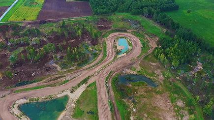 """""""Cross Country"""" trasa Uoginių autosporto komplekse"""