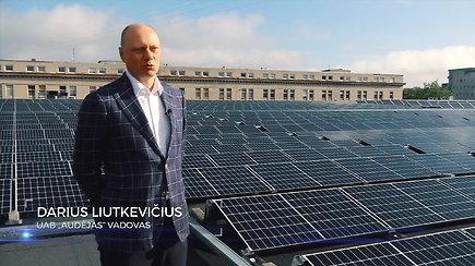 Vieno stogo istorija: po investijų į saulės elektrinę įmonė jau skaičuoja naudą