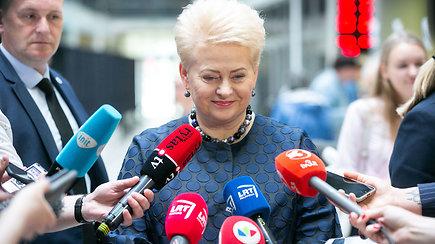 D.Grybauskaitė balsavo: mums pasisekė, kad antrajame ture dalyvauja jo verti kandidatai