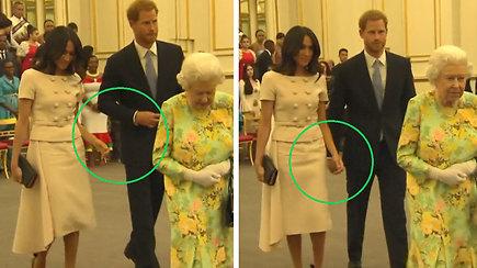 Princas Harry išvengė su juo susikibti mėginusios Meghan Markle rankos