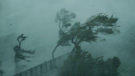 """""""Audrų karaliumi"""" pramintas taifūnas Mangkhut toliau sėja mirtis Ramiojo vandenyno regione"""