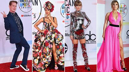 Įvertinkite: grandiozinių Amerikos muzikos apdovanojimų raudonasis kilimas