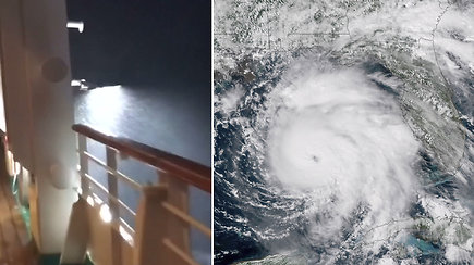 Kruizinio laivo keleiviai iš arti patyrė uragano Michaelo galią