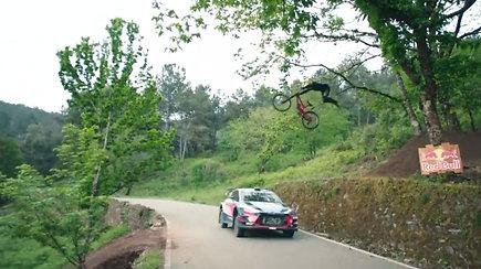 Neįtikėtinose ralio automobilio ir kalnų dviračio lenktynėse nustebino rezultatas