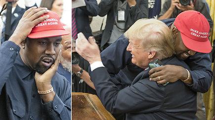 K.Westas susitikime su D.Trumpu savo iškalba pralenkė net prezidentą