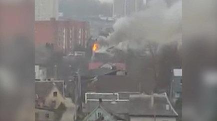 Marijampolėje padegtas negyvenamas namas