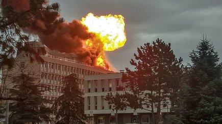 Užfiksuota sprogimo Liono universitete akimirka – keli žmonės sužeisti