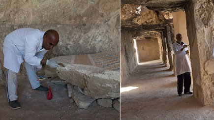 Stebinantys atradimai tęsiasi: atidarytas 3500 m. senumo neįprasto dydžio kapas