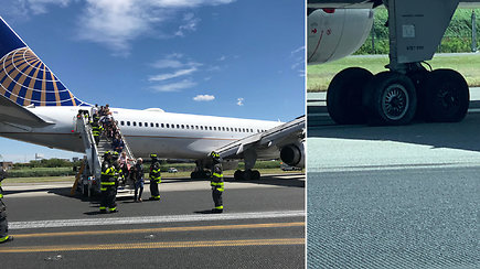 Besileidžiančiam lėktuvui sprogo padangos – nuvažiavo nuo tūpimo tako