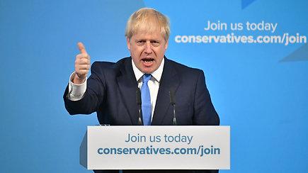 """Jungtinės Karalystės premjeru išrinktas lietuviškų šaknų turintis B.Johnsonas pažadėjo įgyvendinti """"Brexit"""""""