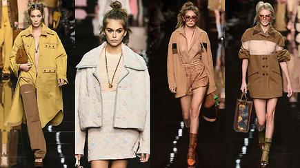 """Modelių žvaigždynas pristatė pavasariui skirtą """"Fendi"""" kolekciją"""