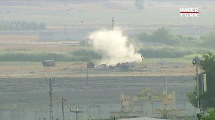 Turkija paskelbė apie operacijos Sirijoje pradžią, pranešama apie bombardavimą