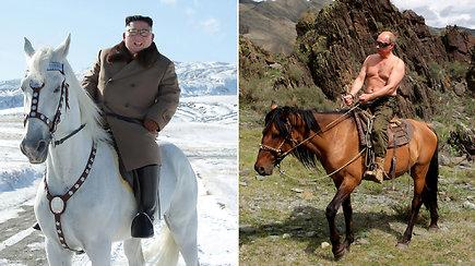 Kim Jong Uno fotosesija prajuokino internautus: lygina su V.Putinu